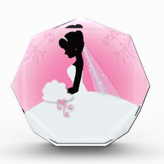 modern pink Elegant bride silhouette bride Award