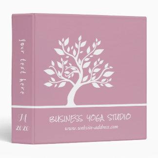 Modern Pink Elegant Classy Tree YOGA Instructor Binder