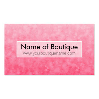 Modern Pink Fashion Boutique Soft Chic Bokeh Business Card