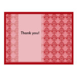 Modern Pink Floral Thank You Post Card