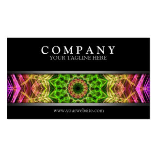 Modern Pink Flower Mandala Double-Sided Standard Business Cards (Pack Of 100)