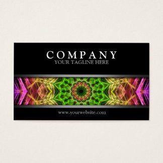 Modern Pink Flower Mandala Business Card