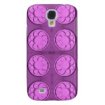 Modern pink flowers samsung galaxy s4 covers