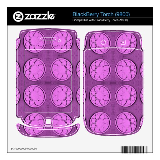 Modern pink flowers skin for BlackBerry torch