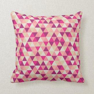 Modern Pink Geometric | Throw Pillow