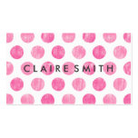 Modern pink large trendy polka dots pattern bakery business card