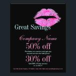 "modern pink lips Makeup Artist cosmetologist Flyer<br><div class=""desc"">hot pink kiss Makeup Artist Business cards ,  business promotional products,  office stationery ,  Makeup Artist business flyers and rack cards</div>"