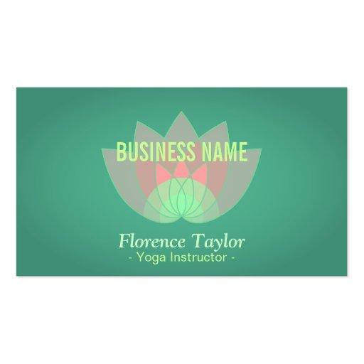 Modern, Pink Lotus Flower, Wellness Industry Business Card