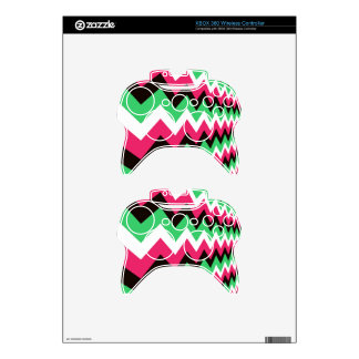 Modern Pink Mix Chevrons Xbox 360 Controller Decal