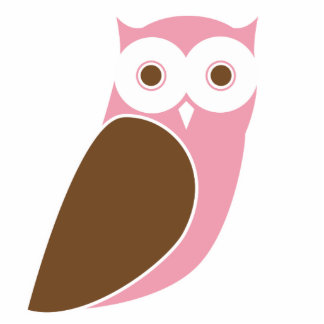 Modern Pink Owl Cutout
