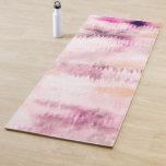 Modern Pink Paint Cloudy Tie-Dye Abstract Art Yoga Mat
