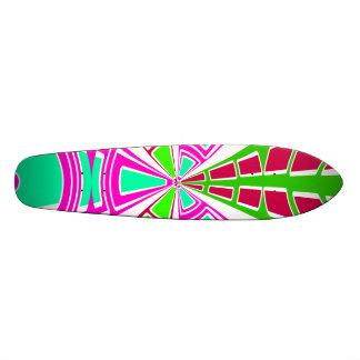 Modern pink purple white semi-circle design skate boards