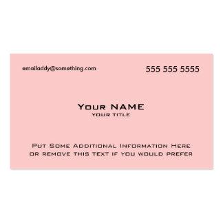 Modern Pink QR Code Business Card