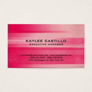 Modern Pink Red Professional Personal Simple Business Card