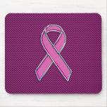 Modern Pink Ribbon Awareness Design Mouse Pad