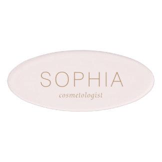 Modern Pink Salon Spa Name Tag