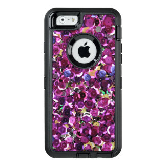 Modern Pink Sequins Sparkle Print OtterBox Defender iPhone Case