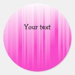 Modern pink stripes sticker