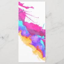 Modern pink teal watercolor paint splatter pattern