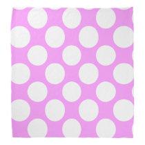 Modern Pink White Polka Dots Pattern Bandana