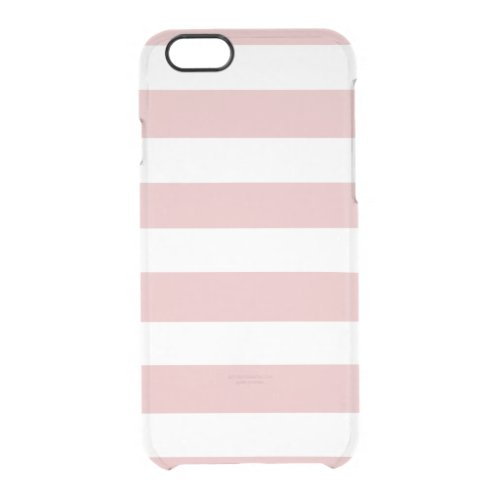 Modern Pink White Stripes Pattern Phone Case