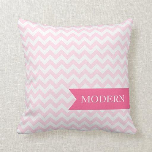 Modern Pink Zigzag Pillow