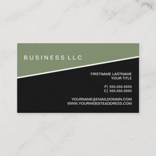 Modern Pinstripe Business Card Template Moss