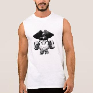Modern Pirate Skull: Crossed Outboards Sleeveless Shirt