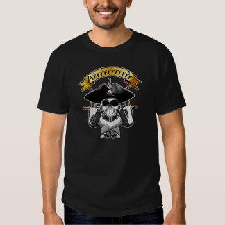Modern Pirate Skull: Ships Wheel Tee Shirt