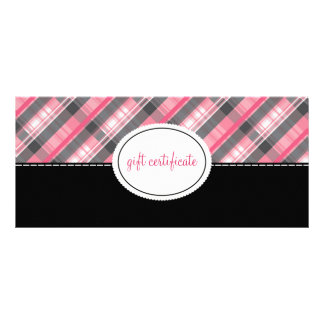 Modern Plaid Boutique Style Gift Certificates