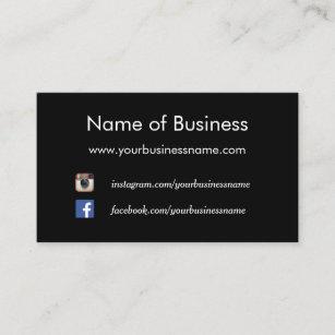 Website business cards templates zazzle modern plain black social media websites business card colourmoves