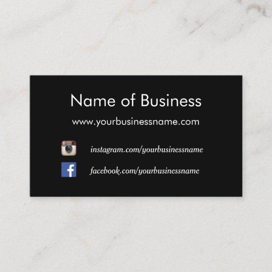 Modern plain black social media websites business card zazzle modern plain black social media websites business card colourmoves