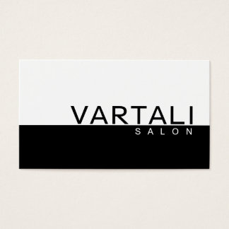 Modern Plain Black White Spa Business Card