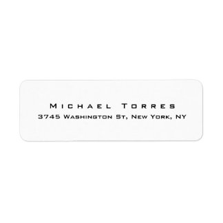 Modern Plain Elegant Creative Black & White Label