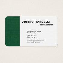 Modern Plain Elegant Minimalist Forest Green White Business Card