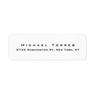 Modern Plain Elegant Trendy Black & White Label