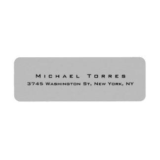 Modern Plain Elegant Trendy Silver Grey Minimalist Label