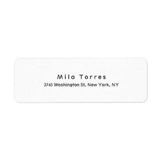 Modern Plain Elegant Unique Black & White Label