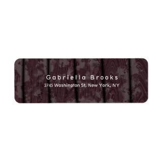 Modern Plain Elegant Unique Brown Wood Label