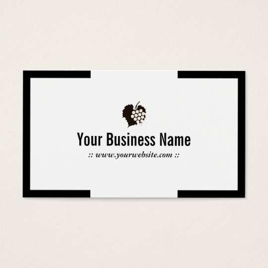 Modern Plain Grapes Winery Business Card