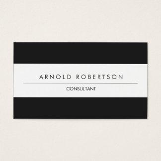 Modern Plain Grey White Professional Business Card