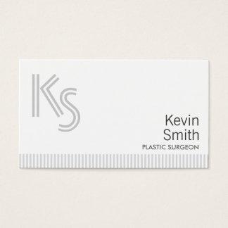 Modern Plain Plastic Surgeon Business Card