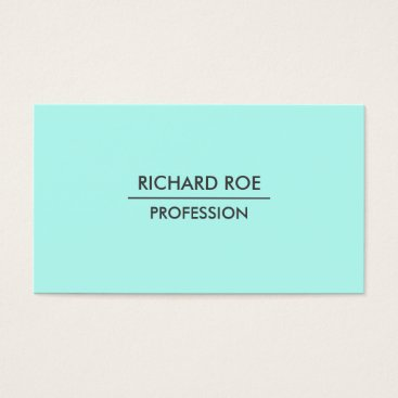 USA Themed Modern Plain Professional Cyan Business Cards