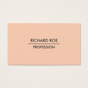 USA Themed Modern Plain Professional Orange Business Cards