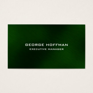 Modern Plain Simple Artistic Green Professional Business Card