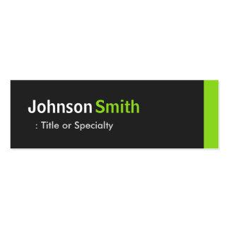Modern Plain Simple Black and Mint Green Mini Business Card