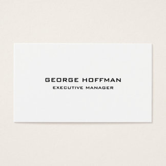 Modern Plain Simple Black White Professional Business Card