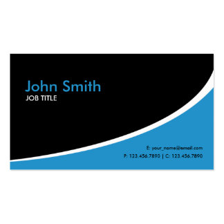 Modern Plain Simple Hi Tech Blue Double-Sided Standard Business Cards (Pack Of 100)