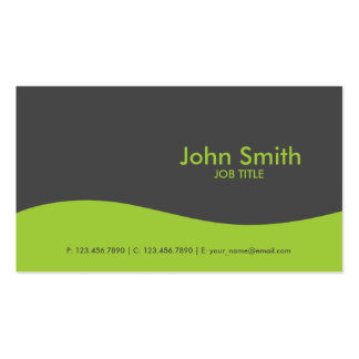 Modern Plain Simple Hi Tech Green Double-Sided Standard Business Cards (Pack Of 100)