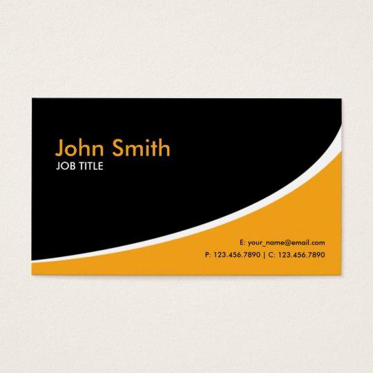 Modern Plain Simple Hi Tech Orange Business Card